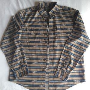 LL Bean Signature Slim Fit Aztec Print Shirt L